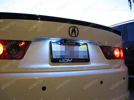 Acura - TSX - white - led - license - plate - light
